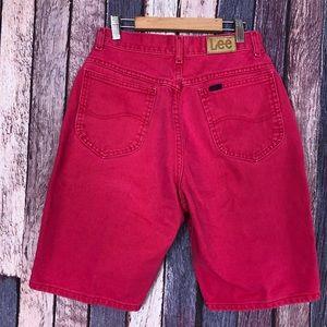 Vintage Lee Mom High-Waisted Jean Denim Shorts 6